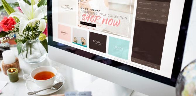 pessoa ensinando a como criar uma loja virtual